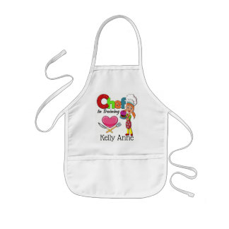 Lite kock i utbildningsförkläde barnförkläde