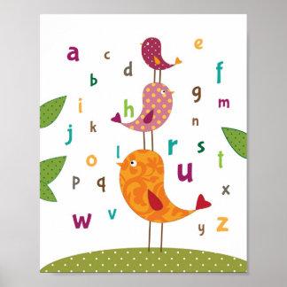 Lite konst för pippialfabetbarnkammare poster