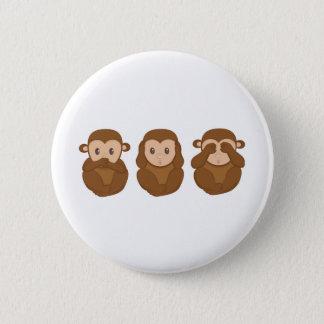 Lite monkeye tre standard knapp rund 5.7 cm