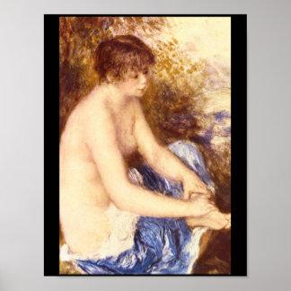 Lite nakenstudie i Blue_Impressionists Poster