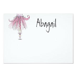 Lite numrerar dansare ett tack 12,7 x 17,8 cm inbjudningskort