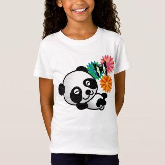 Lite Panda - blommor och fjäril T Shirt
