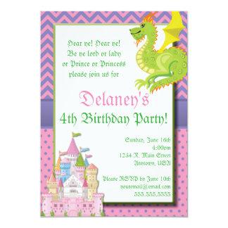 Lite partyinbjudan för Princess saga 12,7 X 17,8 Cm Inbjudningskort
