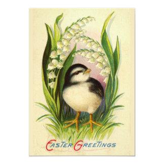Lite påskfågelinbjudan 12,7 x 17,8 cm inbjudningskort