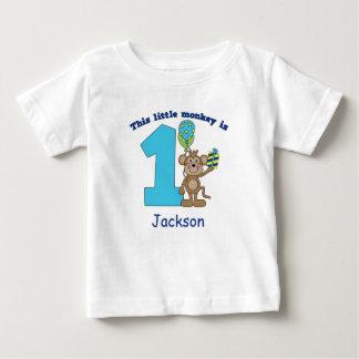 Lite personlig för födelsedag för apaungar 1st tröjor