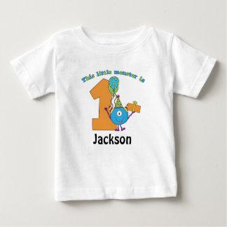 Lite personlig för födelsedag för monsterungar 1st t shirts