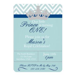 Lite Prince Första Födelsedag Inbjudan