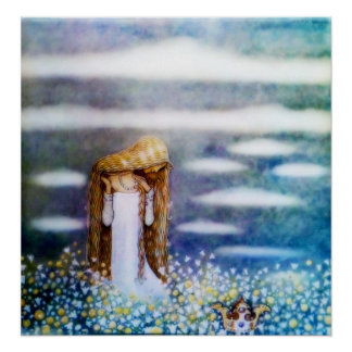 Lite Princess Cottongrass Poster
