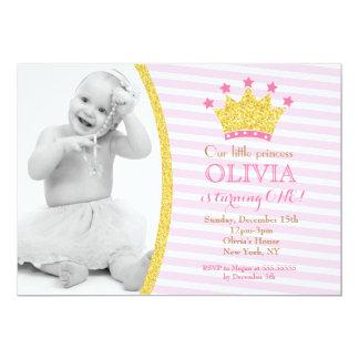 Lite Princess födelsedagsfest inbjudan