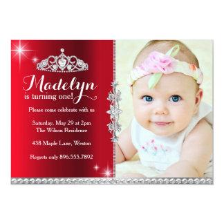 Lite Princess Första Födelsedag Inbjudan