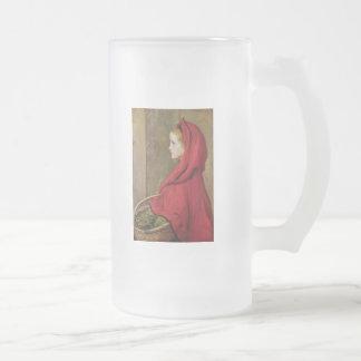 Lite röd ridninghuva av John Everett Millais Frostat Ölglas