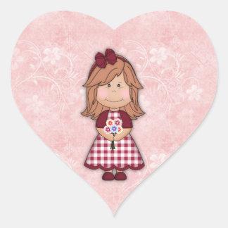 Lite rödhårig i min hjärta hjärtformat klistermärke