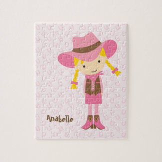 Lite rosa Cowgirl {blondinen} Pussel