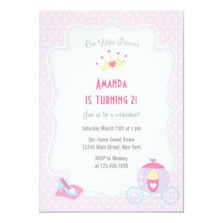 Lite rosor för Princess födelsedagsfest inbjudan