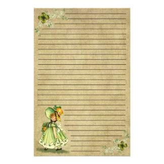 Lite Sanktt liten pastej brevpapper för dagFlicka