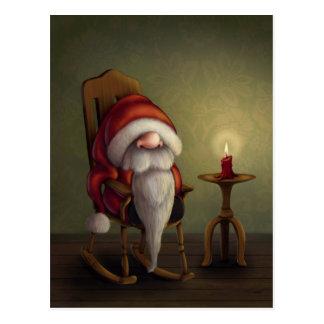 Lite Santa i hans gungstol Vykort