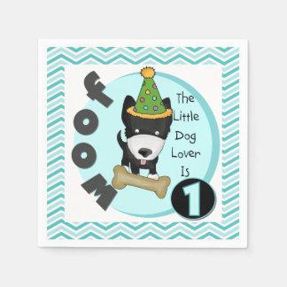 Lite servetter för 1st födelsedag för hund älskare
