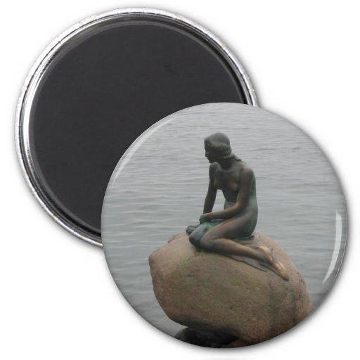 Lite sjöjungfruKöpenhamn Kylskåpmagneter