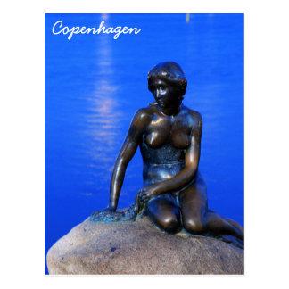 Lite sjöjungfrustaty, Köpenhamn, Danmark Vykort