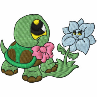 Lite sköldpadda broderad skjorta