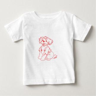 Lite skrattad hund t-shirt