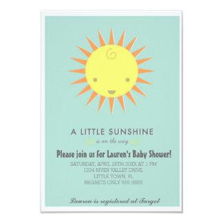 Lite solskenbaby shower 8,9 x 12,7 cm inbjudningskort
