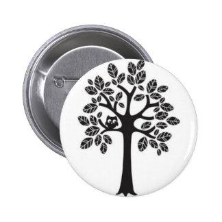 Lite stort träd för uggla standard knapp rund 5.7 cm