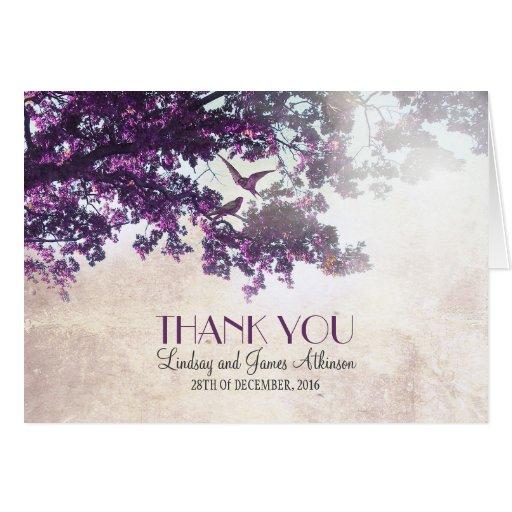 Lite tackar romantiker dig att card med det purpur kort