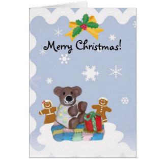 Lite tom julkort för björn hälsningskort