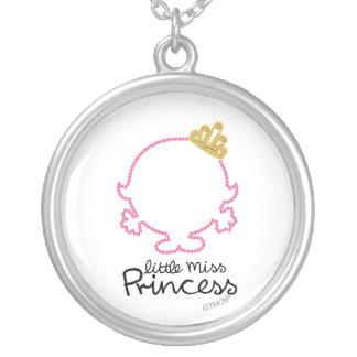 Lite tomt ansikte för Fröcken Princess | Silverpläterat Halsband
