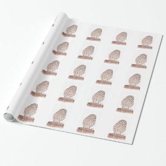 Lite ugglavattenfärg som slår in papper presentpapper