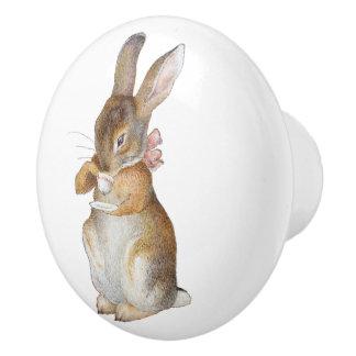 Lite ungar för barn för kaninbabybarnkammare knopp