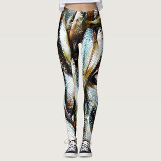 Lite vitfisk leggings