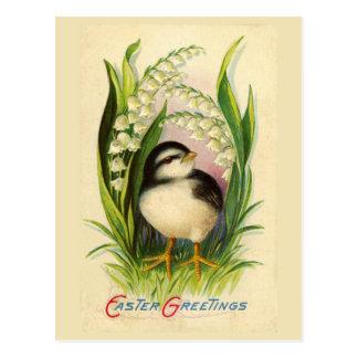 Lite vykort för påskfågelvintage