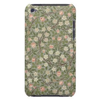Liten design för rosa- och vitblommatapet iPod touch Case-Mate skydd