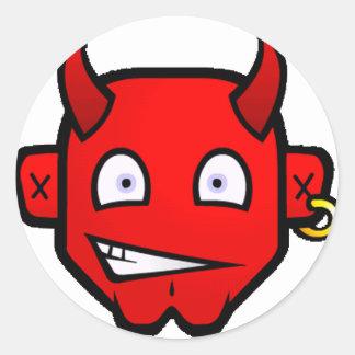 Liten djävulsk djävulen - runt klistermärke