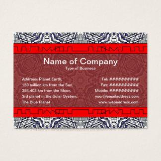 Liten främmande registreringsapparat visitkort