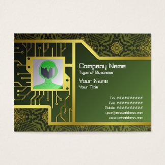 Liten främmande teknologi visitkort