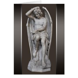 Liten Guillaume Geefs Lucifer skulptur CC0930 OBS Kort