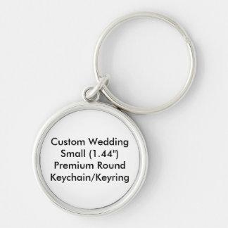 Liten högvärdig runda för personligt bröllp nyckelringar