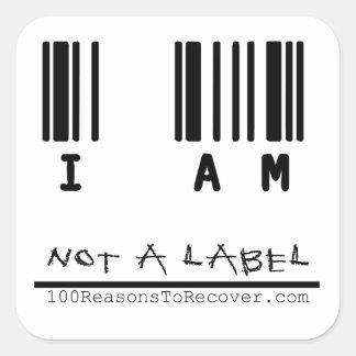 Liten klistermärke - inte en etikett