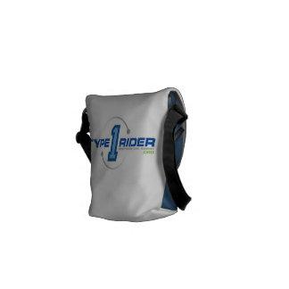 Liten messenger bag för Type1Rider-logotyp