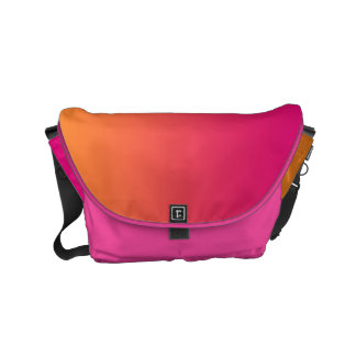 "Liten messenger bag: ""ROSA & ORANGE OMBRE "", Kurir Väskor"