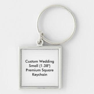 Liten personligt bröllp kvadrerar nyckel ringar