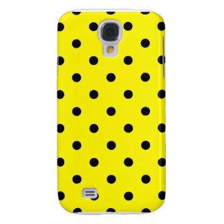 Liten polka dots - svart på citronen galaxy s4 fodral