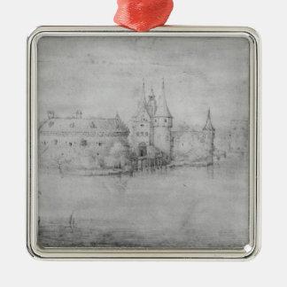 Liten stärkt ö, Amsterdam, 1562 Julgransprydnad Metall