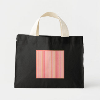 Liten svart för Retro randpersikacitron Tote Bag