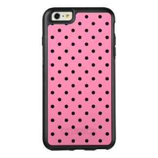 Liten svart polka dots på shock rosa OtterBox iPhone 6/6s plus skal