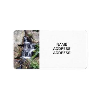 Liten vattenfall adressetikett