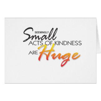 litet agerar av vänlighet är det enorma kortet OBS kort